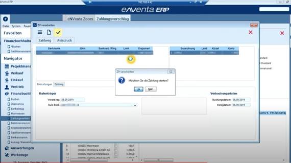 Zahlungsvorschlag - FiBu - Finanzbuchhaltung - enventa ERP - Nissen und Velten