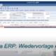 Wiedervorlage erfassen eNVenta ERP