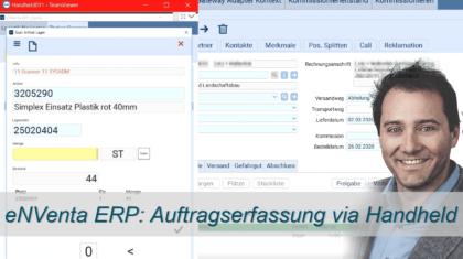 Auftragserfassung via Handheld - eNVenta ERP