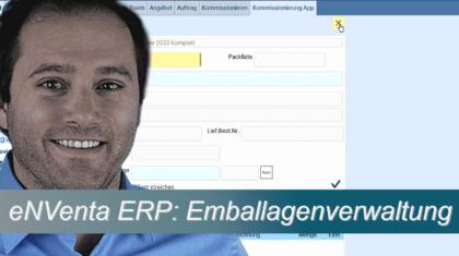 eNVenta-ERP Emballagen-Verwaltung